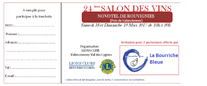 Invitation la bourriche bleue